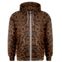 DAMASK2 BLACK MARBLE & RUSTED METAL (R) Men s Zipper Hoodie View1