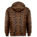 DAMASK2 BLACK MARBLE & RUSTED METAL (R) Men s Zipper Hoodie View2