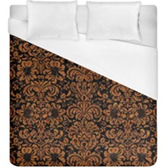 Damask2 Black Marble & Rusted Metal (r) Duvet Cover (king Size) by trendistuff