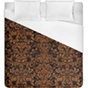 DAMASK2 BLACK MARBLE & RUSTED METAL (R) Duvet Cover (King Size) View1