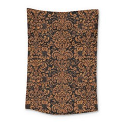 Damask2 Black Marble & Rusted Metal (r) Small Tapestry by trendistuff