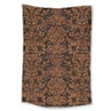DAMASK2 BLACK MARBLE & RUSTED METAL (R) Large Tapestry View1