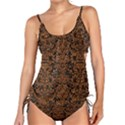 DAMASK2 BLACK MARBLE & RUSTED METAL (R) Tankini Set View1