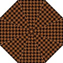 HOUNDSTOOTH1 BLACK MARBLE & RUSTED METAL Straight Umbrellas View1
