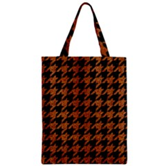 Houndstooth1 Black Marble & Rusted Metal Zipper Classic Tote Bag by trendistuff