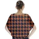 HOUNDSTOOTH1 BLACK MARBLE & RUSTED METAL Blouse View2
