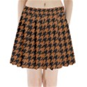 HOUNDSTOOTH1 BLACK MARBLE & RUSTED METAL Pleated Mini Skirt View1