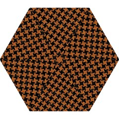 HOUNDSTOOTH2 BLACK MARBLE & RUSTED METAL Mini Folding Umbrellas