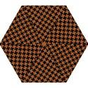 HOUNDSTOOTH2 BLACK MARBLE & RUSTED METAL Mini Folding Umbrellas View1