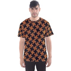 HOUNDSTOOTH2 BLACK MARBLE & RUSTED METAL Men s Sports Mesh Tee