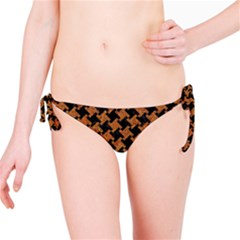 HOUNDSTOOTH2 BLACK MARBLE & RUSTED METAL Bikini Bottom