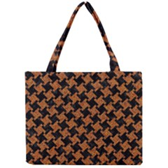 HOUNDSTOOTH2 BLACK MARBLE & RUSTED METAL Mini Tote Bag