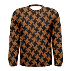 HOUNDSTOOTH2 BLACK MARBLE & RUSTED METAL Men s Long Sleeve Tee
