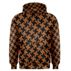 HOUNDSTOOTH2 BLACK MARBLE & RUSTED METAL Men s Pullover Hoodie