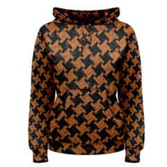 HOUNDSTOOTH2 BLACK MARBLE & RUSTED METAL Women s Pullover Hoodie