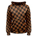 HOUNDSTOOTH2 BLACK MARBLE & RUSTED METAL Women s Pullover Hoodie View1