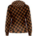 HOUNDSTOOTH2 BLACK MARBLE & RUSTED METAL Women s Pullover Hoodie View2