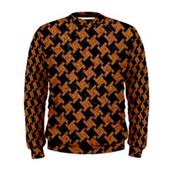 HOUNDSTOOTH2 BLACK MARBLE & RUSTED METAL Men s Sweatshirt