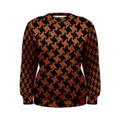 HOUNDSTOOTH2 BLACK MARBLE & RUSTED METAL Women s Sweatshirt