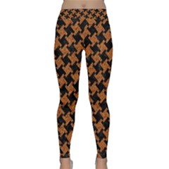 HOUNDSTOOTH2 BLACK MARBLE & RUSTED METAL Classic Yoga Leggings