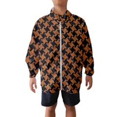 HOUNDSTOOTH2 BLACK MARBLE & RUSTED METAL Wind Breaker (Kids)