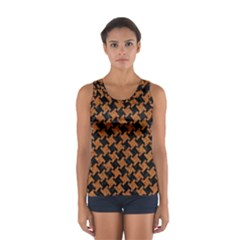 HOUNDSTOOTH2 BLACK MARBLE & RUSTED METAL Sport Tank Top