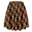 HOUNDSTOOTH2 BLACK MARBLE & RUSTED METAL High Waist Skirt View2