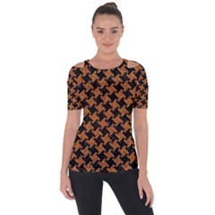 HOUNDSTOOTH2 BLACK MARBLE & RUSTED METAL Short Sleeve Top