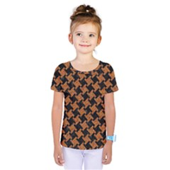 HOUNDSTOOTH2 BLACK MARBLE & RUSTED METAL Kids  One Piece Tee
