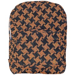 HOUNDSTOOTH2 BLACK MARBLE & RUSTED METAL Full Print Backpack