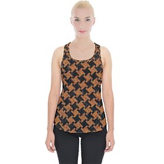 HOUNDSTOOTH2 BLACK MARBLE & RUSTED METAL Piece Up Tank Top