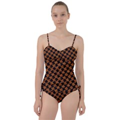 HOUNDSTOOTH2 BLACK MARBLE & RUSTED METAL Sweetheart Tankini Set
