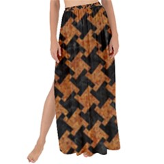 HOUNDSTOOTH2 BLACK MARBLE & RUSTED METAL Maxi Chiffon Tie-Up Sarong
