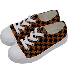 HOUNDSTOOTH2 BLACK MARBLE & RUSTED METAL Kids  Low Top Canvas Sneakers