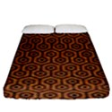 HEXAGON1 BLACK MARBLE & RUSTED METAL Fitted Sheet (King Size) View1