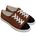 HEXAGON1 BLACK MARBLE & RUSTED METAL Women s Low Top Canvas Sneakers View3