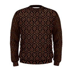 Hexagon1 Black Marble & Rusted Metal (r) Men s Sweatshirt