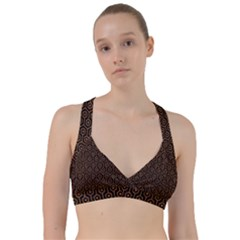 Hexagon1 Black Marble & Rusted Metal (r) Sweetheart Sports Bra