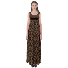 Hexagon1 Black Marble & Rusted Metal (r) Empire Waist Maxi Dress by trendistuff