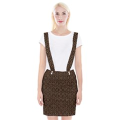 Hexagon1 Black Marble & Rusted Metal (r) Braces Suspender Skirt