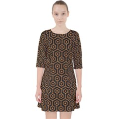 Hexagon1 Black Marble & Rusted Metal (r) Pocket Dress