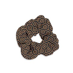 Hexagon1 Black Marble & Rusted Metal (r) Velvet Scrunchie by trendistuff