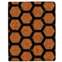 HEXAGON2 BLACK MARBLE & RUSTED METAL Apple iPad Mini Flip Case View1