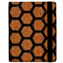 HEXAGON2 BLACK MARBLE & RUSTED METAL Apple iPad Mini Flip Case View2