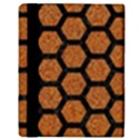 HEXAGON2 BLACK MARBLE & RUSTED METAL Apple iPad Mini Flip Case View3