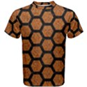 HEXAGON2 BLACK MARBLE & RUSTED METAL Men s Cotton Tee View1