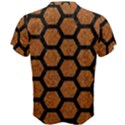 HEXAGON2 BLACK MARBLE & RUSTED METAL Men s Cotton Tee View2