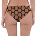 HEXAGON2 BLACK MARBLE & RUSTED METAL Reversible Hipster Bikini Bottoms View2