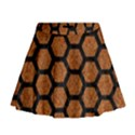 HEXAGON2 BLACK MARBLE & RUSTED METAL Mini Flare Skirt View1