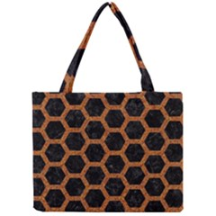 HEXAGON2 BLACK MARBLE & RUSTED METAL (R) Mini Tote Bag